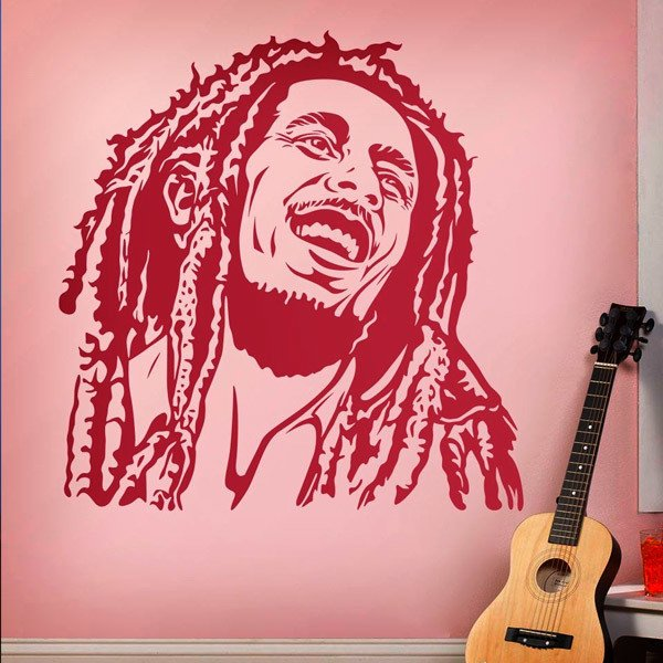 Wall Stickers: Bob Marley smile