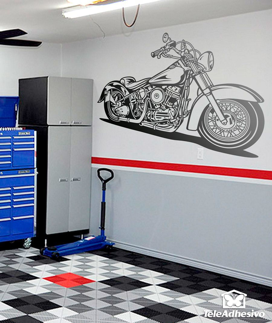 Captivating Wall Stickers: Harley Davidson Softail Classic Part 27