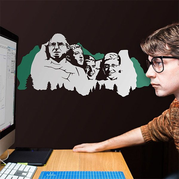 Wall Stickers: Mount Rushmore Geek 2 colours
