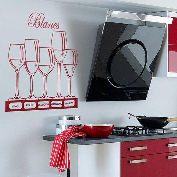 Wall Stickers: white wine glasses