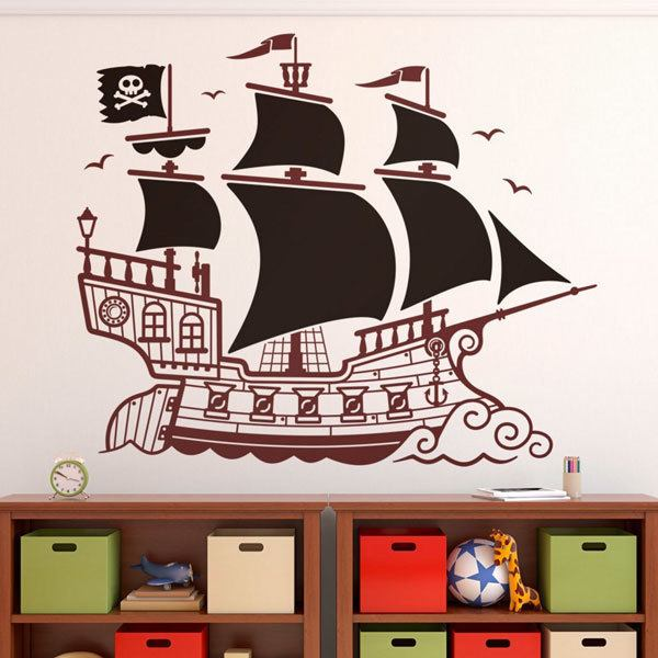 Stickers for Kids: Great Pirate Ship