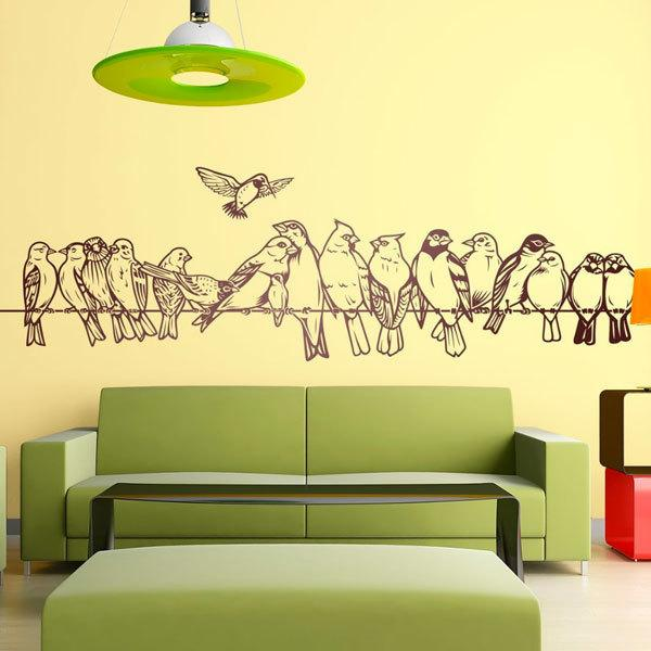Wall Stickers: Birds on the wire