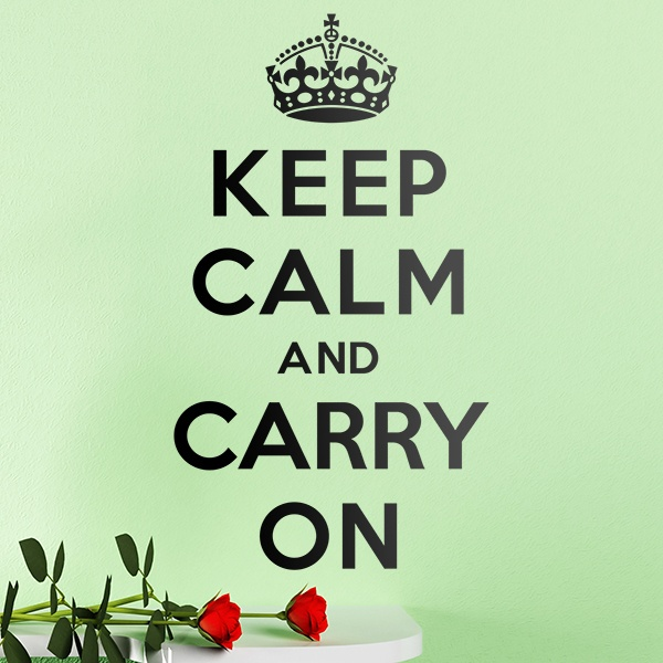 Wall Stickers: Keep Calm And Carry On
