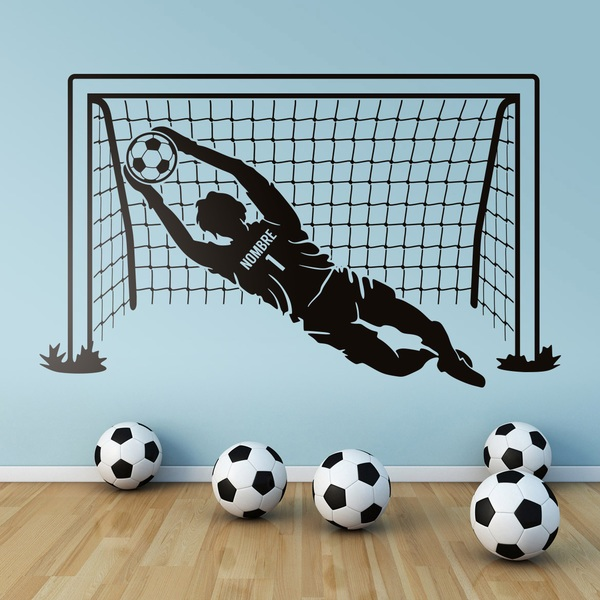 Stickers for Kids: Soccer goalkeeper personalized