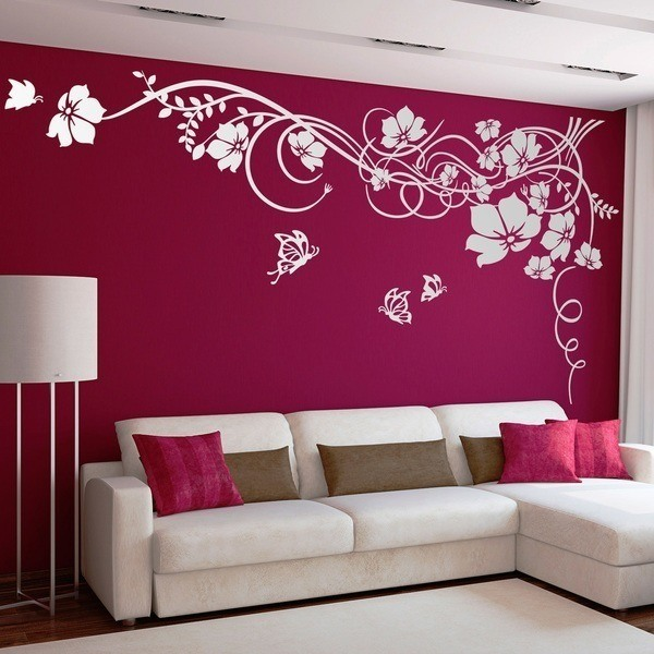 Wall Stickers: Floral with butterflies