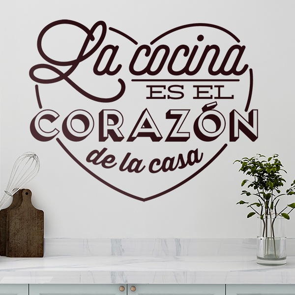 Wall Stickers: kitchen is the heart of the home - spanish