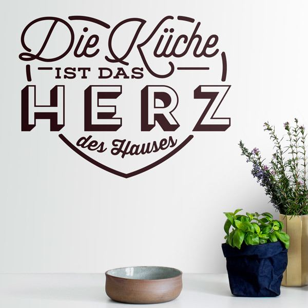 Wall Stickers: The Kitchen is the Heart of the Home in German