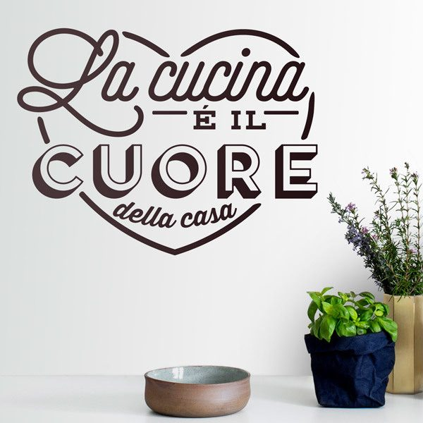 Wall Stickers: The Kitchen is the Heart of the Home in Italian