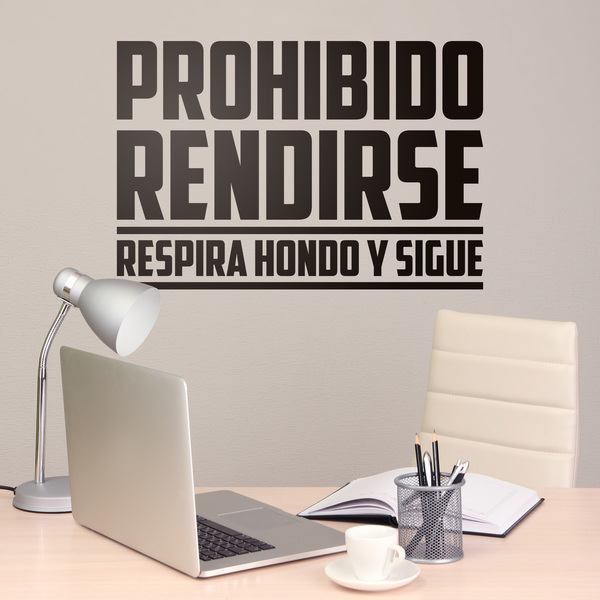 Wall Stickers: Prohibido rendirse