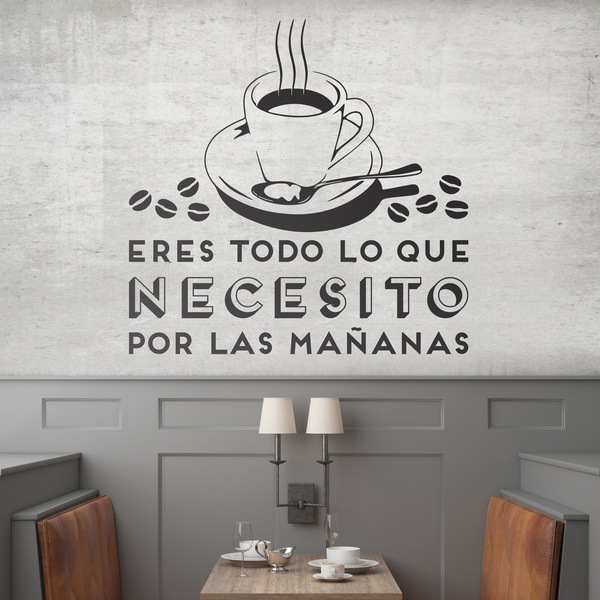 Wall Stickers: You're all I need in the morning