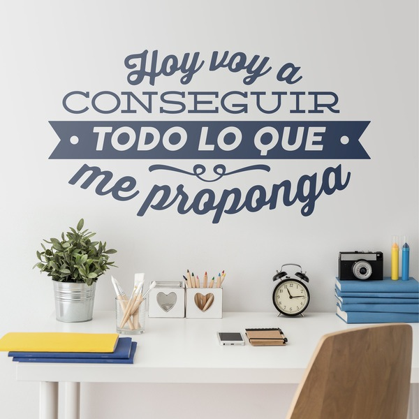 Wall Stickers: Hoy voy a conseguir