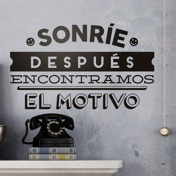 Wall Stickers: Sonríe, después encontramos el motivo
