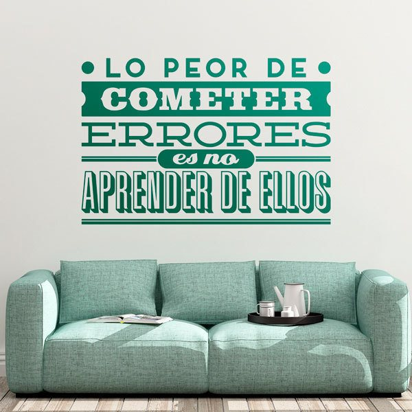 Wall Stickers: Lo peor de cometer errores...