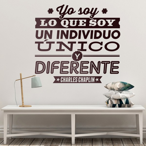 Wall Stickers: Yo soy lo que soy - Charles Chaplin