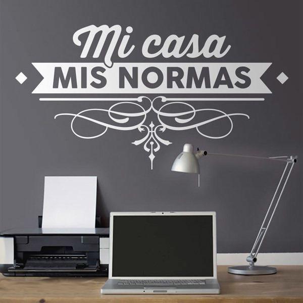 Wall Stickers: Mi Casa, Mis Normas