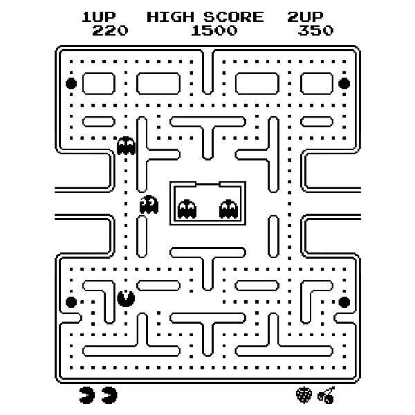 pac man maze coloring pages - photo#19