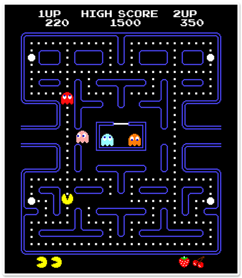Wall Stickers: Pac-Man Arcade Game Color 0
