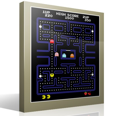 Wall Stickers: Pac-Man Arcade Game Color 3
