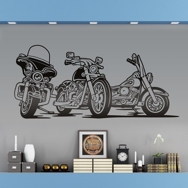 Wall Stickers: 3 Harley Davidson Motorbike Part 75