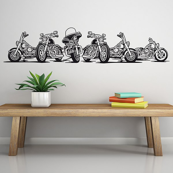 Wall Stickers: 6 Harley Davidson Motorbike Part 37