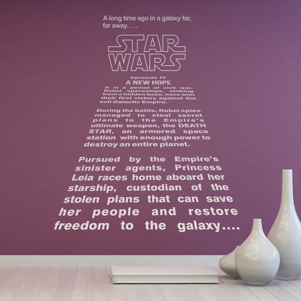 Wall Stickers: Star Wars Text Crawl
