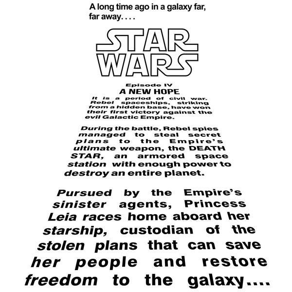 Star Wars Text Crawl