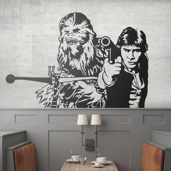 Wall Stickers: Chewbacca and Han Solo