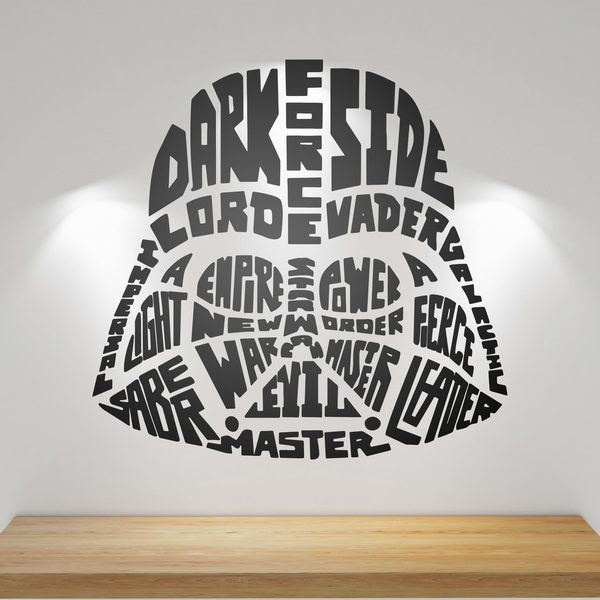 Wall Stickers: Typographic Darth Vader