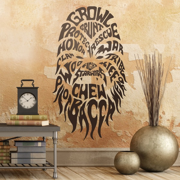 Wall Stickers: Typographic Chewbacca