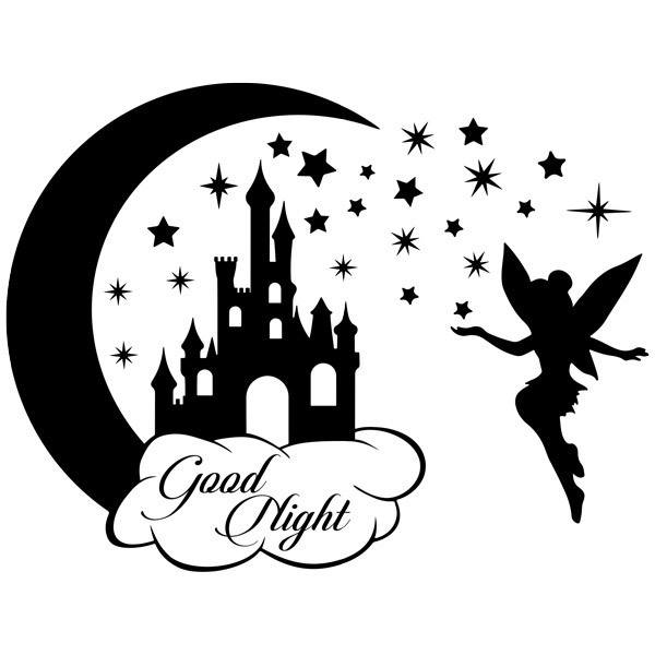 Castle, stars and Tinkerbell Good Night