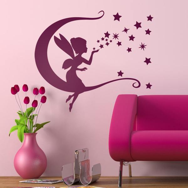 Stickers for Kids: Tinkerbell, moon and stars