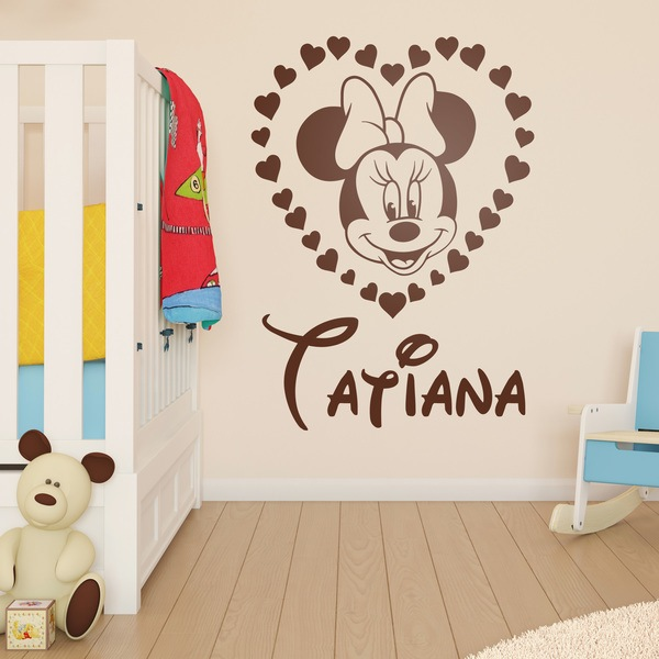 Stickers for Kids: Personalized heart of Minnie