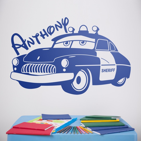 Stickers for Kids: Sheriff car personalized