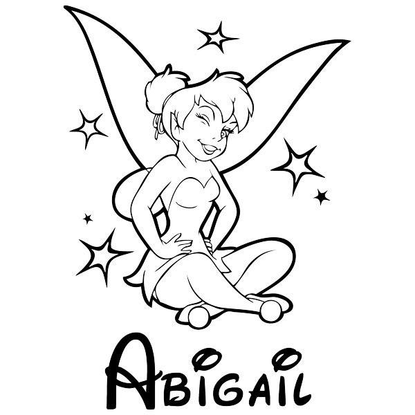 Stickers for Kids: Tinkerbell and name