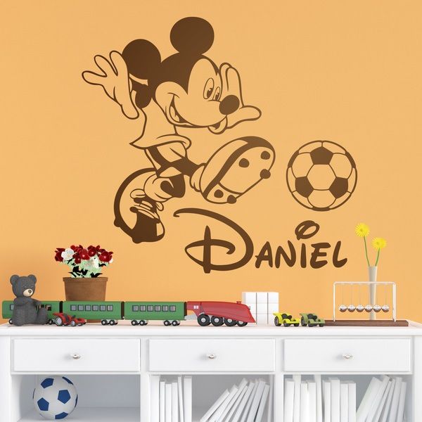 Stickers for Kids: Mickey Mouse playing soccer