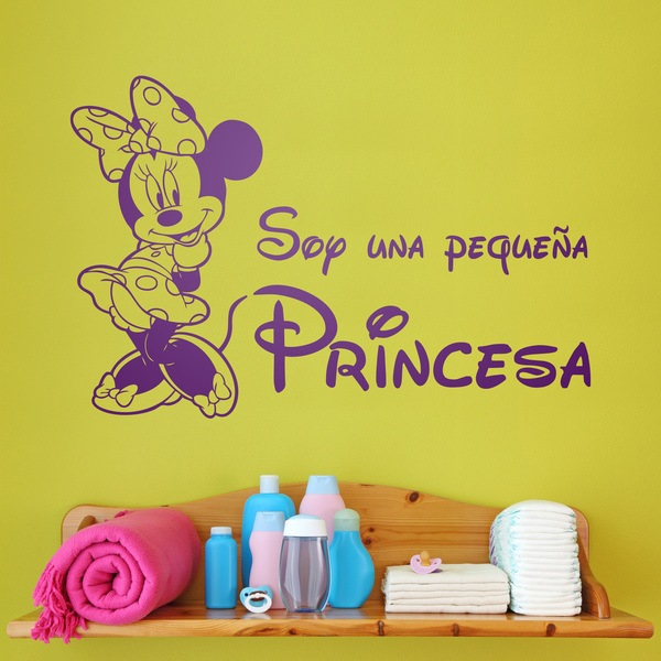 Stickers for Kids: Minnie Soy una pequeña princesa