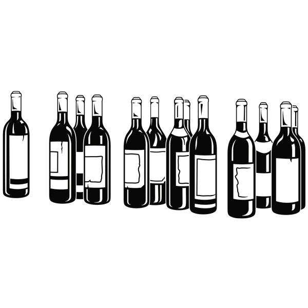 Wall Stickers: Bottles of red wine