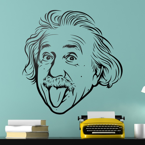 Wall Stickers: Albert Einstein sticking out his tongue