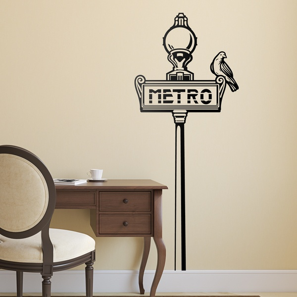 Wall Stickers: Paris Metro sign