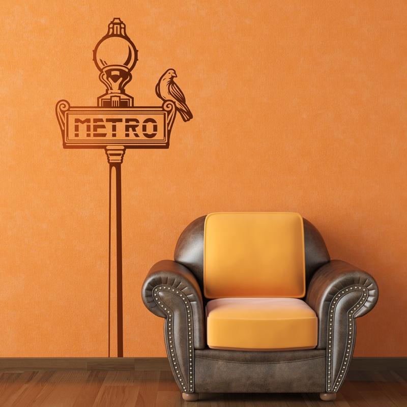 Wall Stickers: Paris Metro sign
