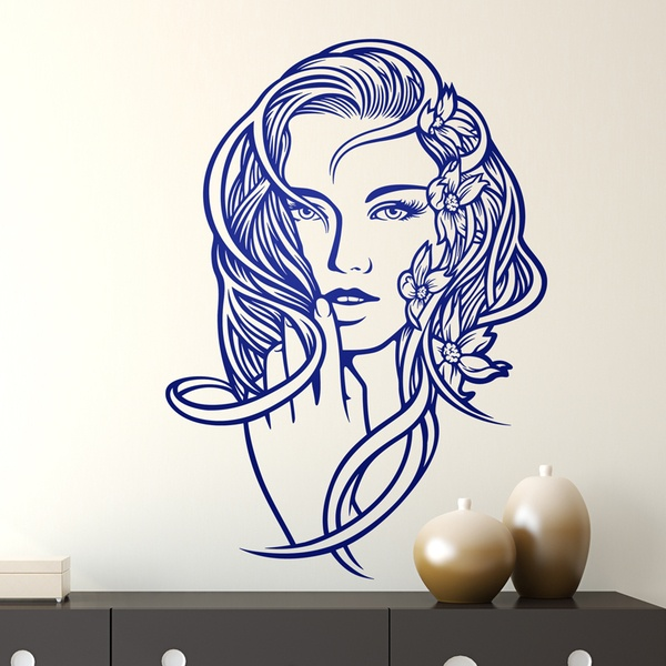 Wall Stickers: Floral hairstyle