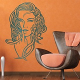 Wall Stickers: Floral hairstyle 2
