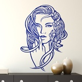 Wall Stickers: Floral hairstyle 3