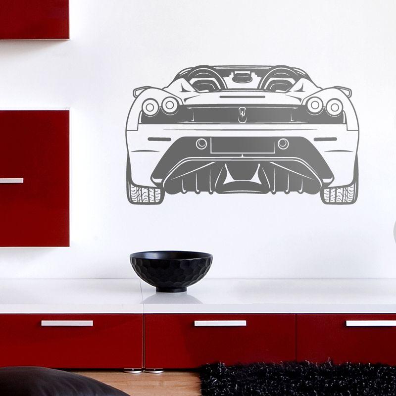 Wall Stickers: Ferrari F430, rear