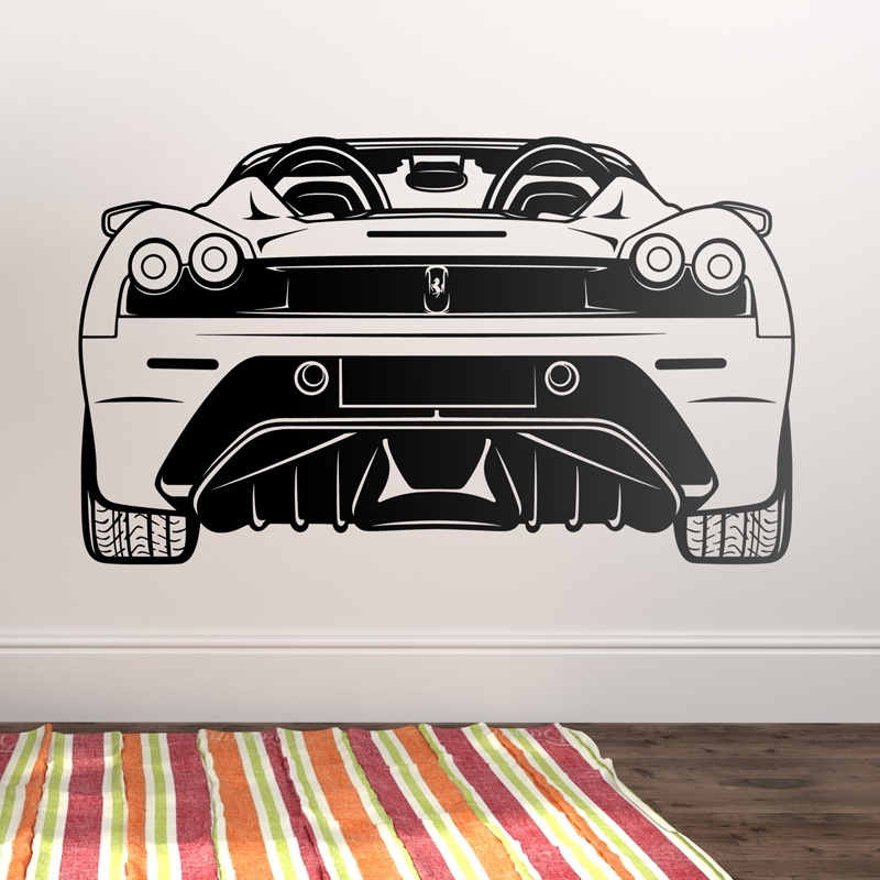 Wall Stickers: Ferrari F430, rear