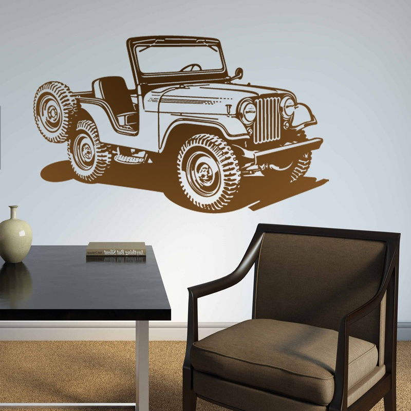 Wall Stickers: Jeep World War II