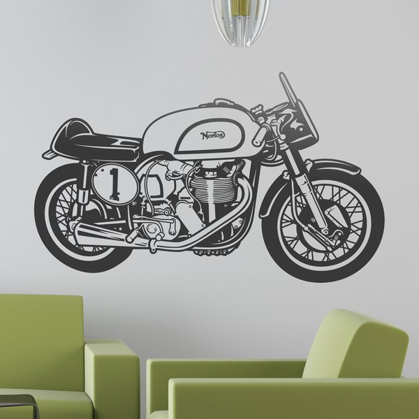 Wall Stickers: Classic motorcycle Norton Manx
