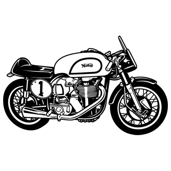 Wall Stickers: Classic motorcycle Norton