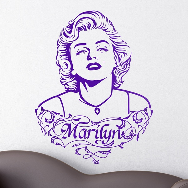 Wall Stickers: Marilyn Monroe Ornaments and text