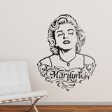 Wall Stickers: Marilyn Monroe ornaments and Text 2